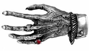 2019 DernièRe Conception Alchemy England-nosferatu La Main Boucle Et Ceinture, étain Vampier Gothique Mort-vivant