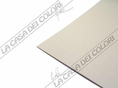 1 PEZZO CARTONE ACCOPPIATO LISCIATO GRIGIO 50x70 cm SPESSORE 1,5 mm