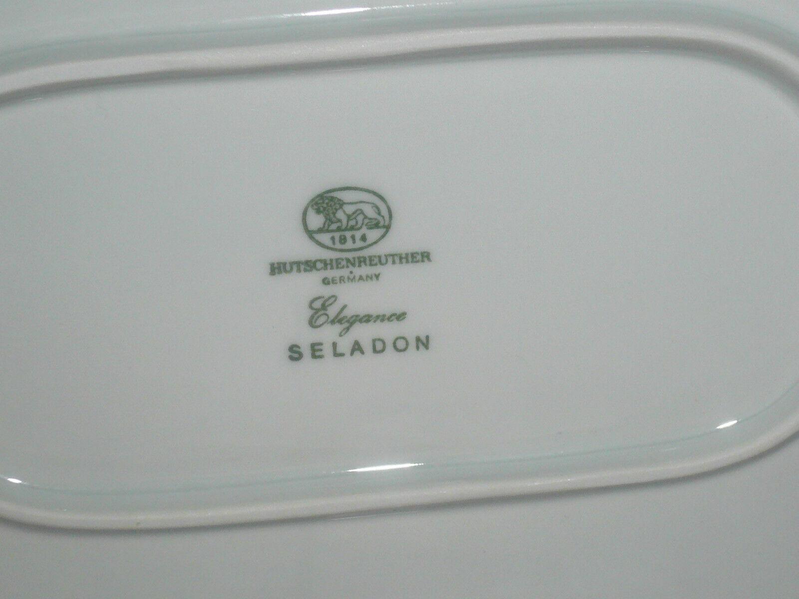 1 Servierplatte   Platte Platte Platte 39 cm   27  cm   Hutschenreuther  ELEGANCE  SELADON   Stabile Qualität  879535