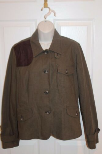 Herringbone Ralph 12 Button Womens Sz Brown Jacket Lauren Equestrian Long wxCOZtUqx