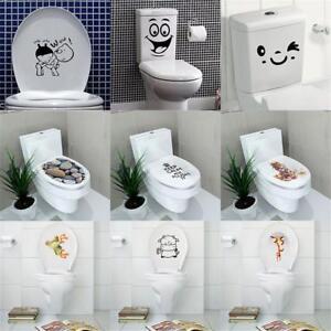 3d wc sitz toilette klodeckel sticker wandbilder aufkleber diy badezimmer deko ebay. Black Bedroom Furniture Sets. Home Design Ideas
