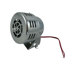 NEW CHROME 12V CIVIL AIR RAID SIREN HORN TORNADO ALARM MOTOR DRIVEN POLICE FIRE