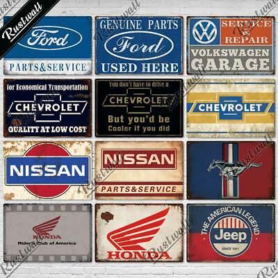 US Vendeur-Décoratif Mur Plaques genuine parts chevrolet garage métal signe