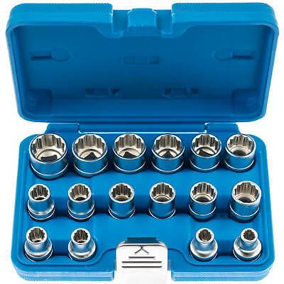 Steckschluessel-Satz-1-2-Zoll-Werkzeug-Set-19-tlg-8-32-Vielzahn-Nuesse-Torx-Nuss