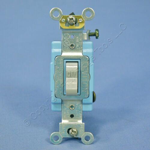 Leviton Gray Single Pole INDUSTRIAL Toggle Wall Light Switch 15A Bulk 1201-2GY