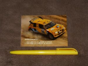 1987 Vatanenmehta Rally Paris Dakar Peugeot 205 Turbo 16