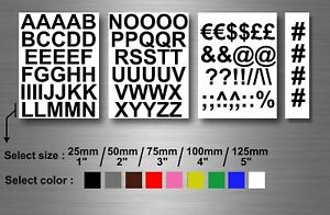 Self-adhesive-stickers-numbered-vinyl-letters-alphabet-ABC-UPPER-1-2-3-4-5-039-039-car