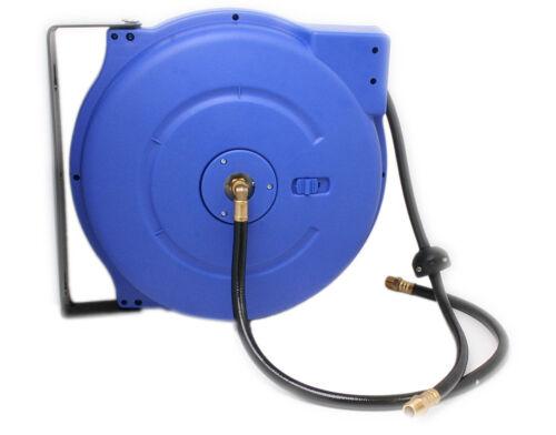 Auto Rewinding Air PCV Hose Reel 1/4 x 15 m Meter Retractable Garage Mountable