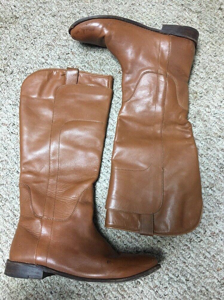 FRYE Paige Tall Knee High Riding Riding Riding Boot Cognac bspringaaa läder kvinnor SIze 9.5  förstklassig kvalitet