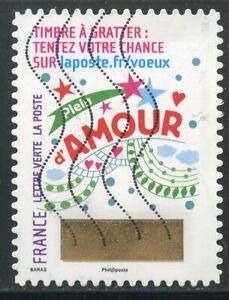 France Autoadhesif Oblitere N° 1341 // Timbre De Voeux Saveur Aromatique