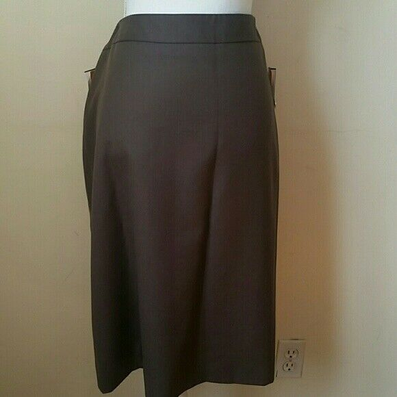 Mossaic taupe wool career pencil skirt size 14 NWT