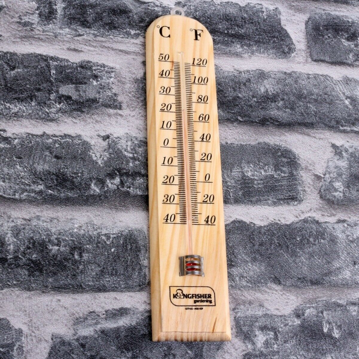 WALL WOODEN THERMOMETER Indoor Outdoor Garden Greenhouse Home Room Office