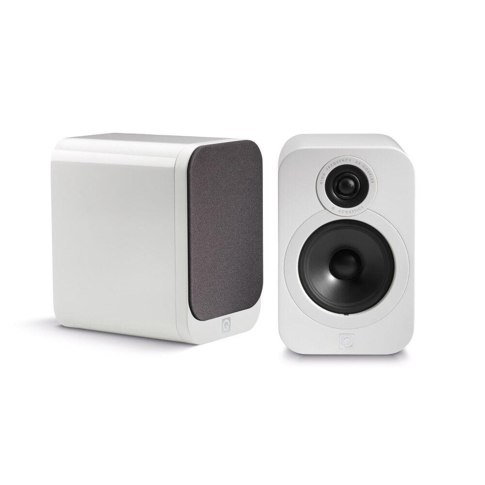 Q Acoustics 3020 Bookshelf Speaker Pair (Gloss White)