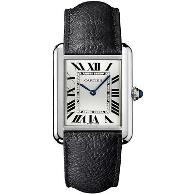 WSTA0028 Brand New Cartier Tank Solo Steel Roman Numeral Dial Women's Watch