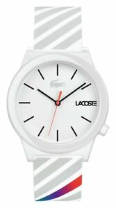 Lacoste-Men-039-s-Motion-2010935-White-Silicone-Strap-Watch