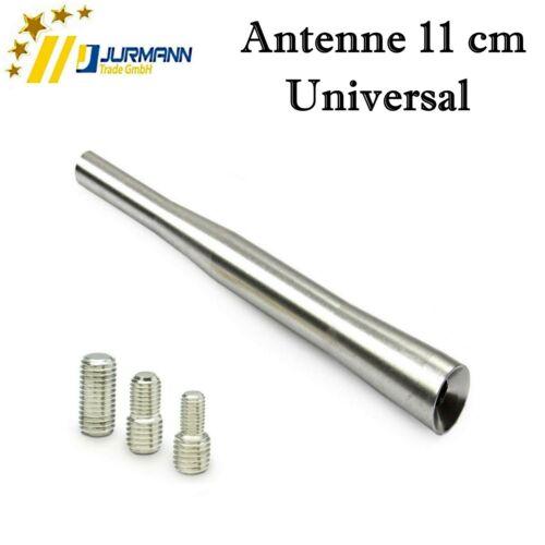 Universal 11 cm Silber Dach Autoantenne AM FM mit 3 Adapter M4 M5 M6 für Peugeot