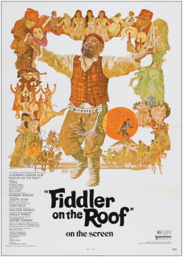 Fiddler on the Roof Vintage Large Movie Poster Art Print A0 A1 A2 A3 A4 Maxi