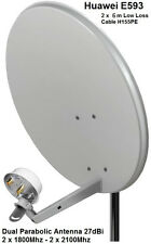 Dual Mobile Broadband Antenna ZTE Aerial Booster MF28 B586 SMA 1800-2600Mhz