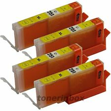 4x CLI-251 CLI251 XL Yellow Ink For Canon Pixma MG5420 MG5520 MG6320 MX722 MX922