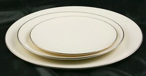 Lot-of-3-Lenox-Olympia-PL-Platinum-Rims-Diner-Salad-amp-Bread-Plate-k3g16