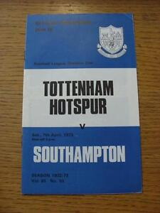07041973 Tottenham Hotspur v Southampton   No obvious faults - <span itemprop=availableAtOrFrom>Birmingham, United Kingdom</span> - Returns accepted within 30 days after the item is delivered, if goods not as described. Buyer assumes responibilty for return proof of postage and costs. Most purchases from business s - Birmingham, United Kingdom