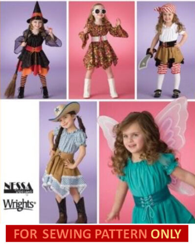 MAKE GIRLS COSTUMES FAIRY~COWGIRL~PIRATE~70S SEWING PATTERN SALE SIZE 3~8