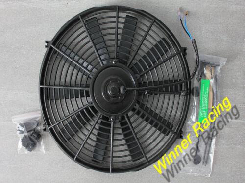 "14/"" 12V 80W electric cooling radiator fan/&kits Mazda RX7 FC;BMW E30;Peugeot 206"
