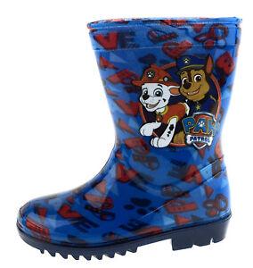 Boys Paw Patrol Wellington Boots Chase Marshall Kids Snow Rain Wellies Nursery