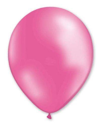 "50 Pcs 12/"" Metallic Baby Pink Balloons for Birthday Party Wedding KRAFTZ®"