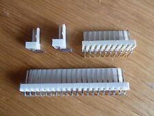 """5 off 8 Way 90° Pin PCB Headers 0.1"""" (2.54mm) Connectors  KK"""