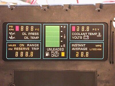 84-89 Corvette Instrument Cluster LCD Elastomeric Zebra Connector Rubber Strips