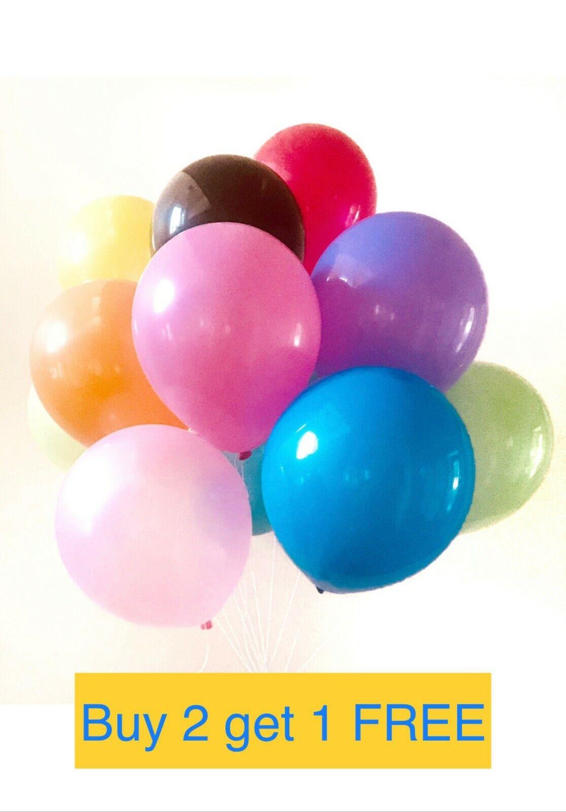 10Inch Plain Latex Balloons Blue White Helium Quality Party Birthday Wedding DIY