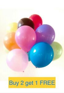 Plain-Latex-Balloons-Pink-White-Black-Blue-Helium-Quality-Party-Birthday-Wedding