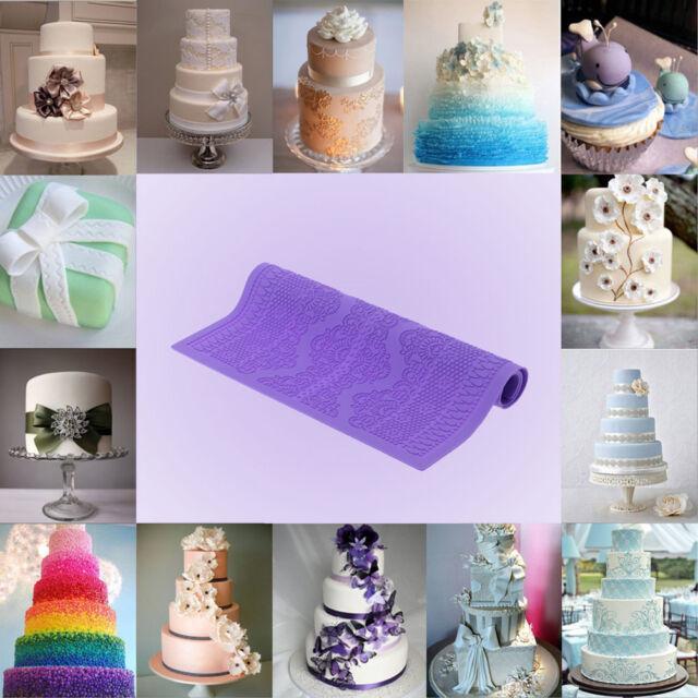 lace mould silicone mat fondant sugar craft cake mold diy baking decorating-t-PN