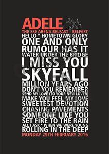 Adele-25-Tour-Set-List-Poster-Belfast-29th-Feb-2016-Gig-Souvenir-Poster