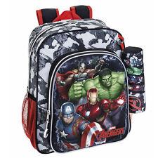 Marvel Avengers Assemble Backpack Rucksack + Pencil Case Travel School Hulk Bag