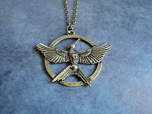 New edition hunger games 3 bronze necklace katniss mockingjay new edition hunger games 3 bronze necklace katniss mozeypictures Images
