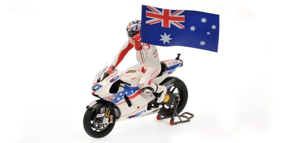 MINICHAMPS 1.12 Scale DUCATI GP09 CASEY STONER MOTOGP Australie 2009.
