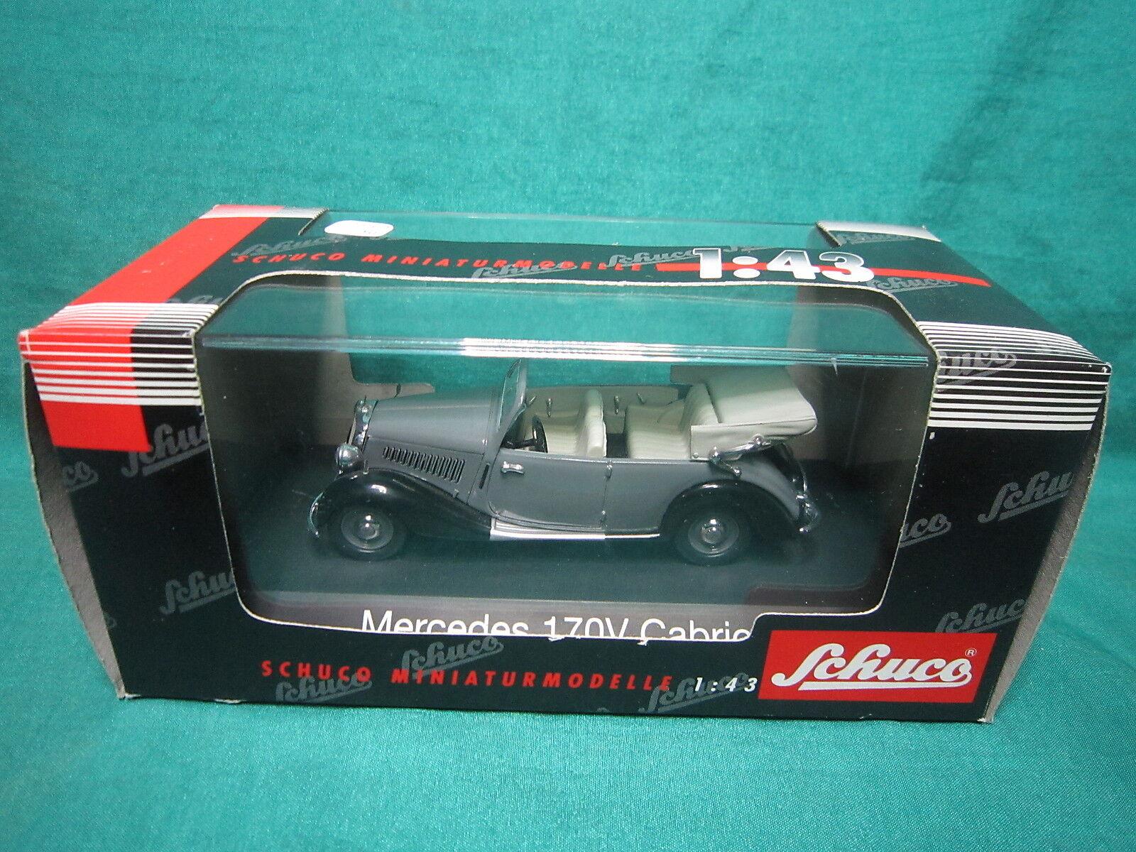DV6340 SCHUCO MERCEDES 170V Cabriolet Ref 02431 1 43 Neuf Boite