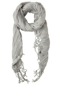 NEW-Basque-Crinkle-Scarf-Solid-Grey