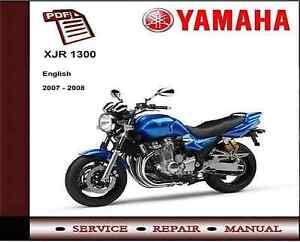 yamaha xjr1300 2007 2008 service repair workshop manual ebay rh ebay co uk yamaha xjr 1300 repair manual yamaha xjr 1300 service manual free download