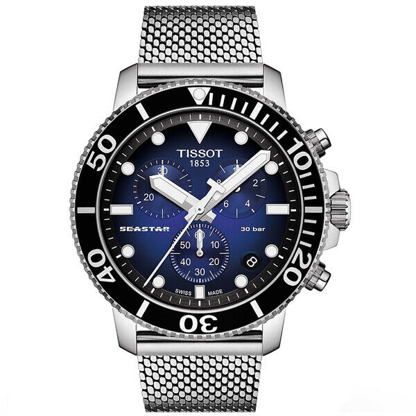 New Tissot Mens Seastar 1000 Chronograph 300m Divers Watch - T1204171104102