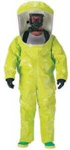 Dupont Tk587slylg000100 Tychem 10000 Encapsulated Level A Suit,Training,L,Pvc