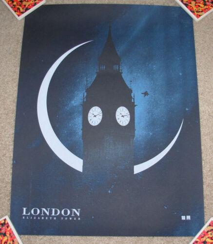 HARRY POTTER London location Art Print poster art Justin Van Genderen rowling
