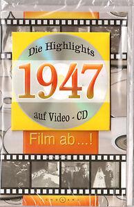 Geburtstagskarte Die Highlights von 1947! Mit Video-CD Jahreschronik, NEU + OVP!