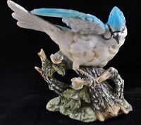 1985 Masterpiece by HOMCO BLUE JAY Bisque Porcelain Figurine V01