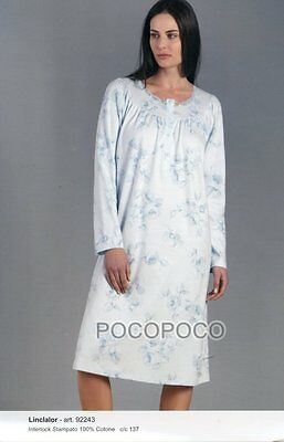 Women's Clothing 92243/92244 Pure White And Translucent Clothing, Shoes & Accessories Ambitious Camicia Notte Manica Lunga Cotone Caldo Linclalor Art