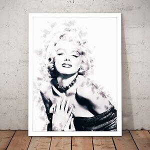 Marilyn Monroe Ink Drop Black Fashion Style Unique Home ...