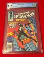 Amazing Spiderman #252 CGC 9.8 NM/MT White Pages Key First Black Costume 1984