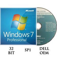 Microsoft Windows 7 Professional PRO 32 Bit Full + Upgrade SP1 & Hard Drive
